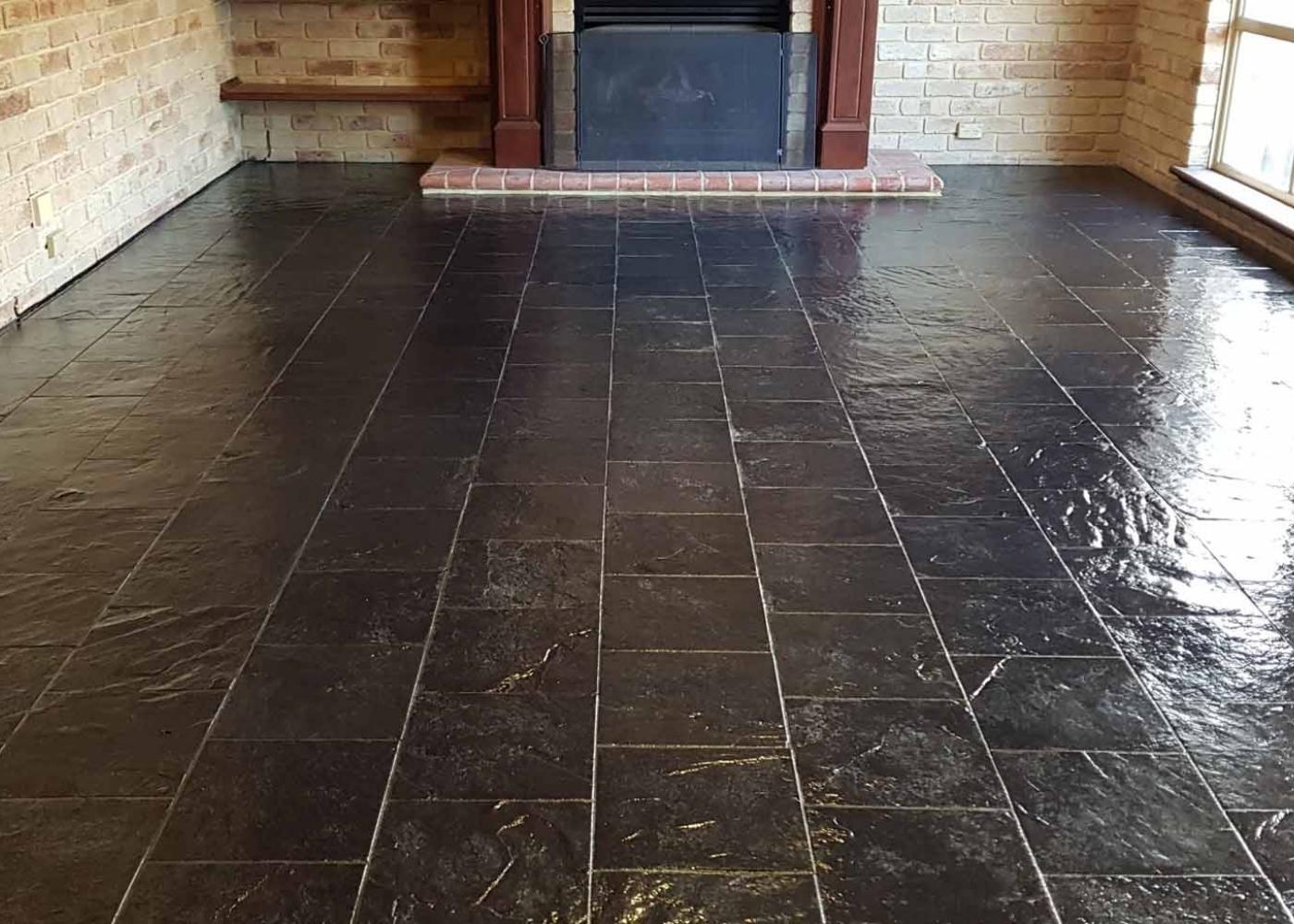 natuursteen vloer na het schoonmaken