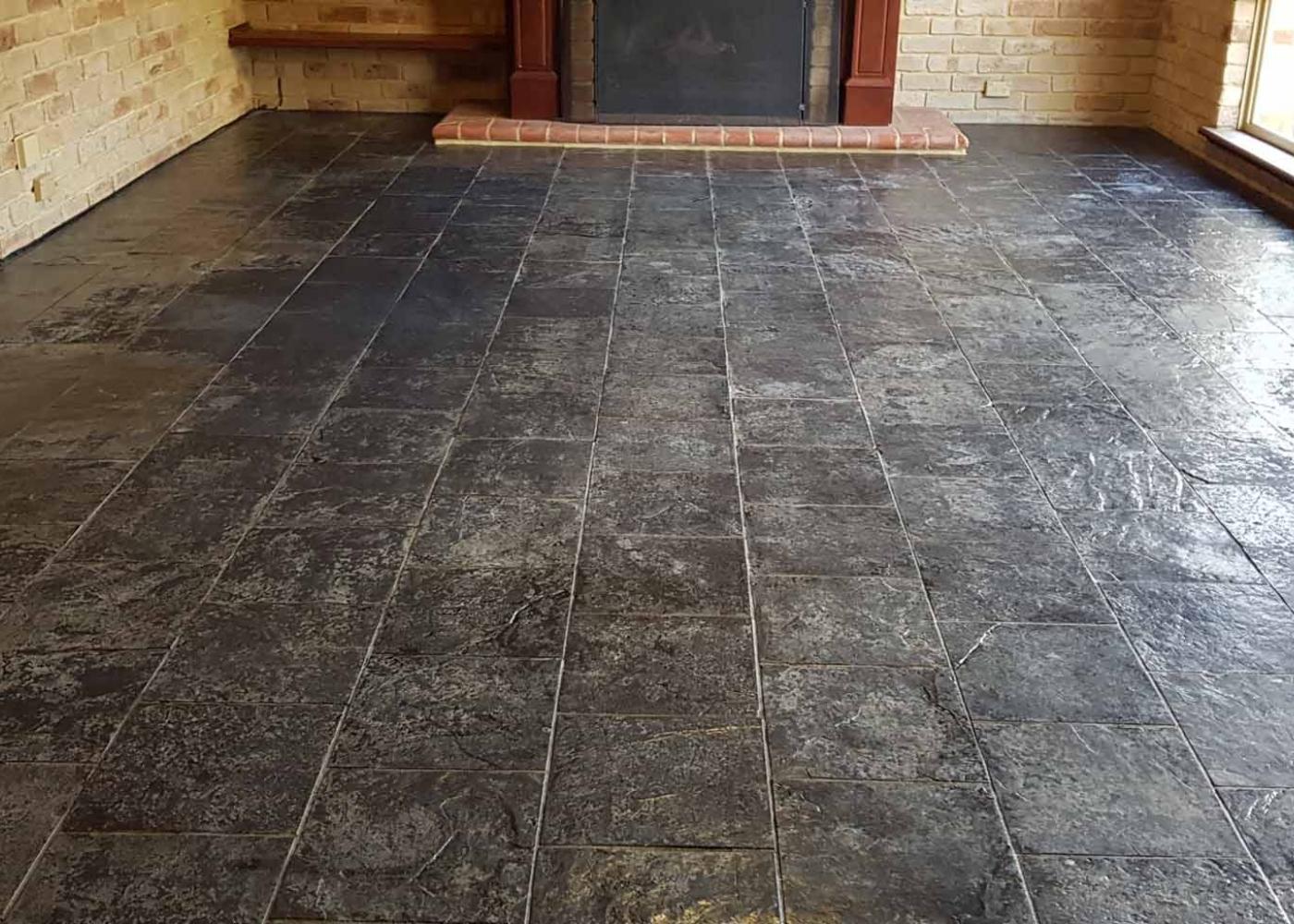 natuursteen vloer voor het schoonmaken